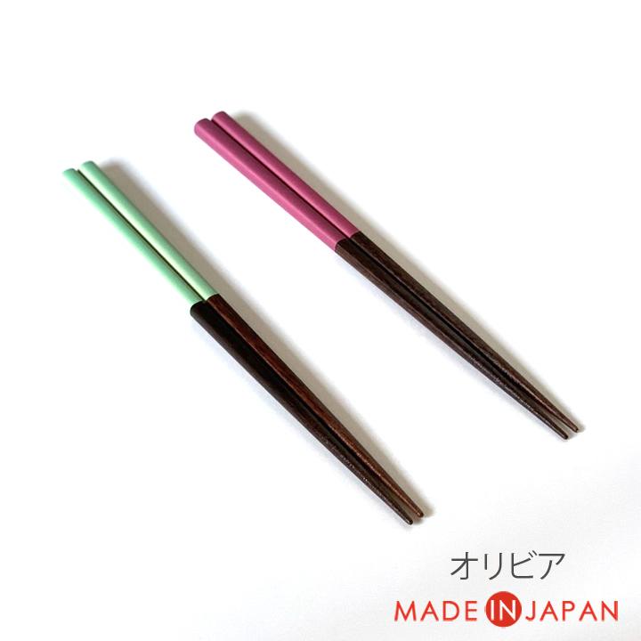 人気海外一番 お箸 はし おしゃれ 使いやすい すべりにくい つかみやすい キッチンツール ツール シンプル 大人用 キッチン 木製 おもてなし 日本製 家族 オリビア すべり止め 木製箸 来客用 普段使い 木 供え 23cm 下ごしらえ