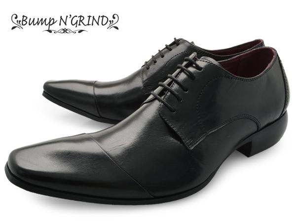 Bump N' GRIND バンプ アンド グラインド メンズ ビジネスシューズ 本革 革靴 紳士靴 黒 BG-4000 BLACK ドレスシューズ 就活 靴 くつ ビジネスシューズ 送料無料