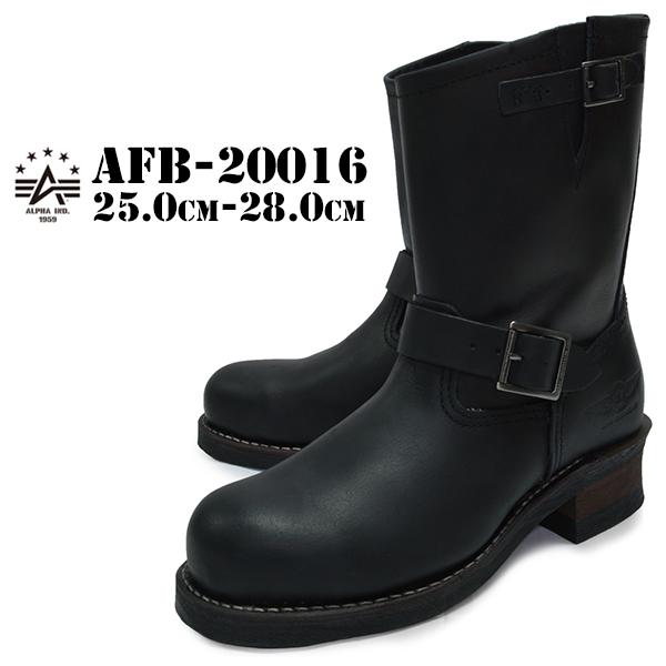ALPHA INDUSTRIES INC. アルファ インダストリーズ メンズ エンジニアブーツ ブラック バイカーブーツ スチールトゥ グッドイヤー afb-20016 BLACK 黒 送料無料