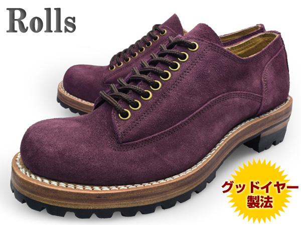 Rolls (ロールズ) 1974 WINE メンズ レザーシューズ ワイン グッドイヤー製法本革使用 ビブラムソール Vibram【送料無料】 靴 くつ