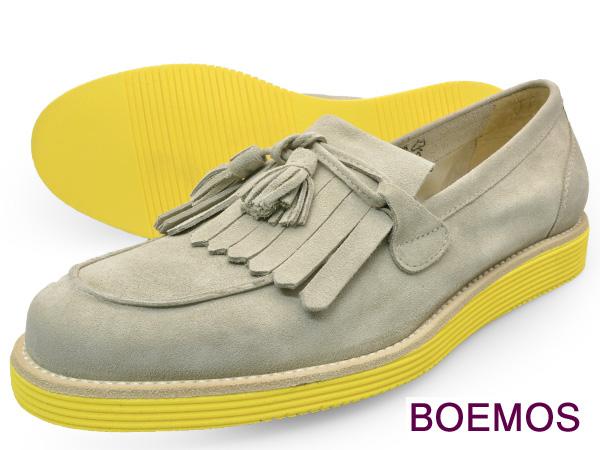 BOEMOS (ボエモス) VIVEL EARTHメンズ タッセル ローファー シューズ キルト付本革 カラーソール イタリア製革靴 紳士靴 【送料無料】 靴 くつ