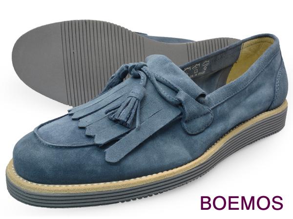 BOEMOS (ボエモス) VIVEL JEANメンズ タッセル ローファー シューズ キルト付本革 カラーソール イタリア製革靴 紳士靴 【送料無料】 靴 くつ