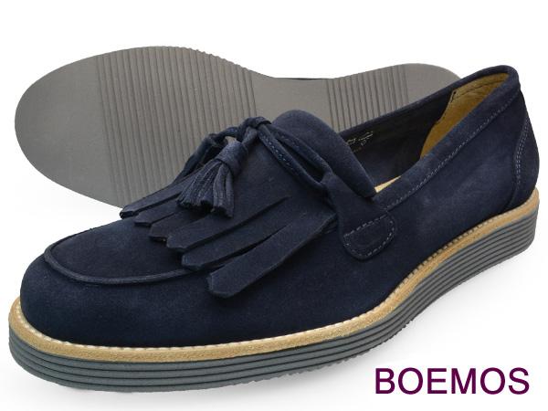 BOEMOS (ボエモス) VIVEL NAVYメンズ タッセル ローファー シューズ キルト付本革 カラーソール イタリア製革靴 紳士靴 【送料無料】 靴 くつ
