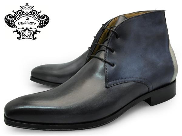 OROBIANCO オロビアンコ シューズ ARCO GRIGIO アルコ グレー メンズ チャッカブーツ 本革 カーフレザー イタリア製 革靴 革底 紳士靴 【送料無料】 靴 くつ