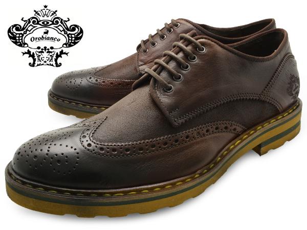 OROBIANCO オロビアンコ シューズ BONOLA ボノーラ TESTA MORO (DK BROWN)メンズ 本革 ウイングチップ イタリア製 ダークブラウン 革靴 紳士靴 ブランド 靴 くつ