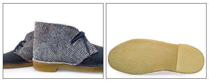 33202b35d8e longpshoe: Clarks desert boots Harris-Tweed Navy Navy UK standards ...