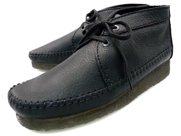 superior materials choose original buy sale CLARKS WEAVER BOOT BLACK LEATHER 78139 kulaki Weaver boots black leather  brand