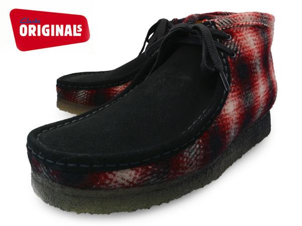 クラークス ワラビー ブーツ レッドコンビ UK規格 ( CLARKS WALLABEE BOOT 20355796 RED COMBI UK ) くらーくす メンズ(男性用) 靴 ブーツ シューズ ブランド 本革 送料無料 あす楽