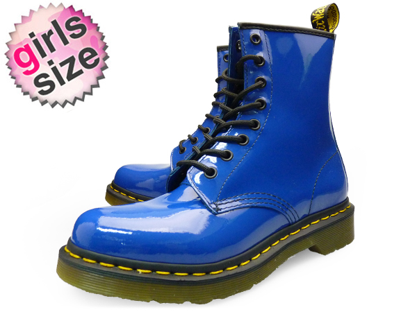 1c60631df Dr.Martens 1460 W 8EYE BOOT ROYAL BLUE 11821409 PATENT LAMPER Dr. Martens  1460 W 8 hole boots Royal Blue patent women's enameled boots lace up DMC  Saul ...