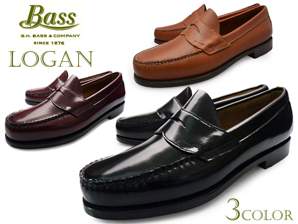 880ea9c8bb9b7 Loafers mens leather G.H.BASS WEEJUNS LOGAN BLACK BURGUNDY TAN bus weejuns  Logan Black Burgundy Tan penny shoes brand Yep_100