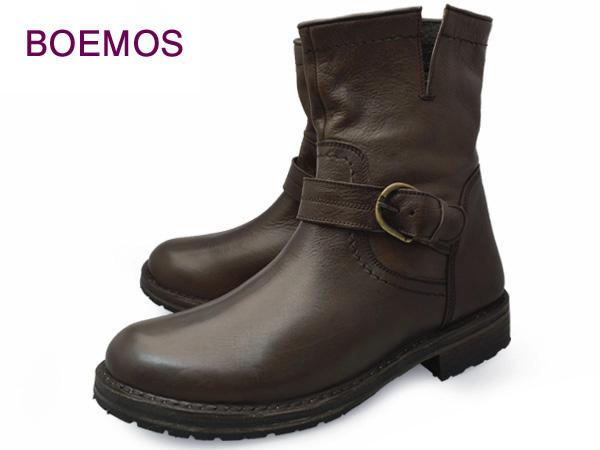 メンズ エンジニアブーツ ダークブラウン 本革 革靴 サイドジップ 本店 BOEMOS ENGINEER BOOTS I3-1068 FIGARO テスタディモーロ ファスナー T.MORO ◆在庫限り◆ イタリア製 ボエモス 送料無料 ブランド 濃茶 紳士靴 フィガロ