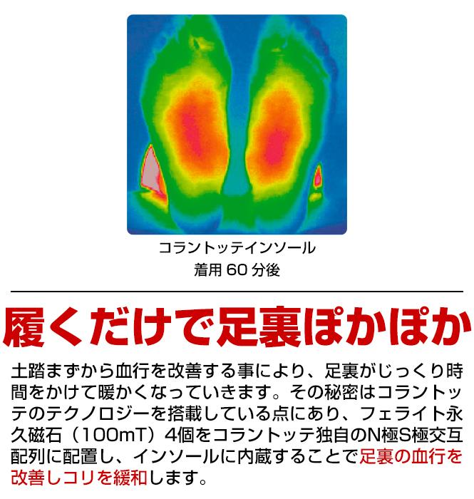 コラントッテ×エマートColantotte×aimantスリッパ室内用履く医療機器磁石磁気暖かいレディース軽量血行改善コリ緩和