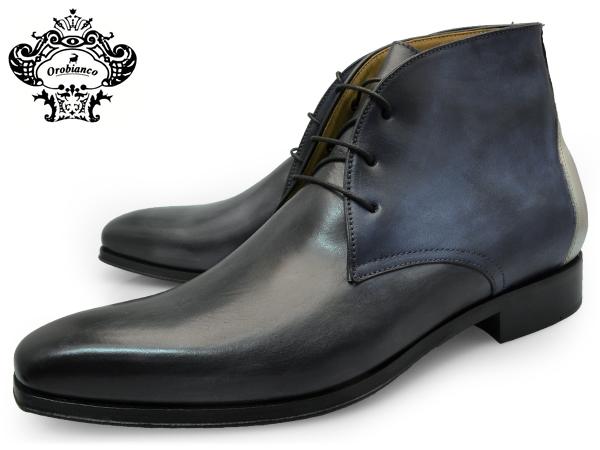 OROBIANCO オロビアンコ ビジネシューズ ドレスシューズ チャッカブーツ CHUKKA BOOTS ARCO GRIGIO アルコ グリージョ 新着セール 靴 送料無料 青 紺色 灰色 メンズ グレー イタリア ブルー 公式ショップ ネイビー