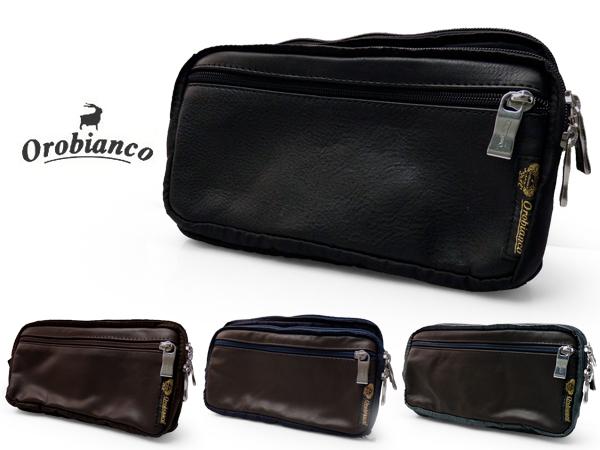 p10 オロビアンコ メンズ ウエストバッグ ボディバッグ ジャコミーノ ウエストポーチ ブラック ブラウン 黒 茶 OROBIANCO GIACOMINO OROB-0055 ブランド 送料無料 kbn10
