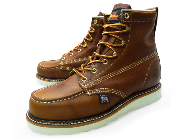 6e4f4ca0554 THOROGOOD 6 MOC TOE WORK BOOTS WEDGE 814-4200 LEATHER Thorogood by 6 inch  MOC to work boots wedge leather mens boots hunting boots oil pull up brand  ...