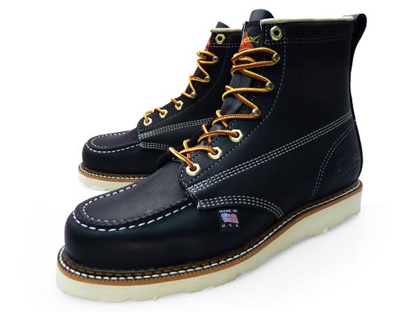 e42b6becc19 THOROGOOD 6 MOC TOE WORK BOOTS BLACK 814-6201 LEATHER Thorogood by 6 inch  MOC to work boots black leather mens boots hunting boots oil pull up brand  ...
