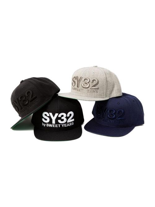 YUPOONG社製にロゴが立体刺繍されたスナップバックキャップ スナップバックキャップ 帽子 YUPOONG 3D LOGO SNAPBACK CAP YEARS SY32 10282 by エスワイサーティトゥバイスウィートイヤーズオフィシャル 年中無休 Official 送料無料 SWEET