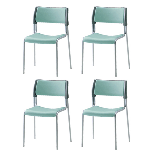 スタッキングチェア 4脚セット イス 椅子 DS-3200N LOOKIT オフィス家具 インテリア
