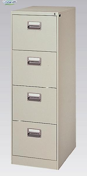 ファイリング キャビネット B4 書庫 収納 ワゴン 脇机 日本製 B4-4N ルキット オフィス家具 インテリア