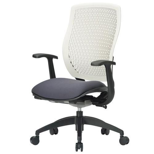 オフィスチェア 完成品 肘付き 布張り ハイバック メッシュバック キャスター付き 事務椅子 パソコンチェア デスクチェア MA-1535 送料無料 LOOKIT オフィス家具 インテリア