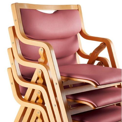 ダイニング チェア 木製 スタッキングチェア 椅子 肘掛 肘付き 食堂用 ダイニングチェア 送料無料 MW-300V