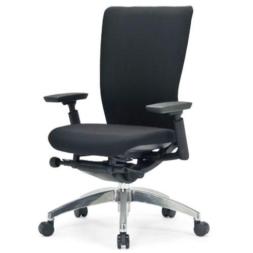 ★送料無料★ エルゴノミクスチェア ミドルバック 可動肘付 キャスター付 布張り 回転イス オフィスチェア エグゼクティブチェア 事務用椅子 R-5535 LOOKIT オフィス家具 インテリア