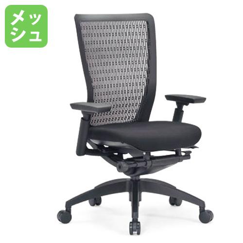 エルゴノミクスチェア メッシュ ミドルバック 可動肘付 キャスター付 布張り 回転イス オフィスチェア エグゼクティブチェア 事務用椅子 R-5635 送料無料