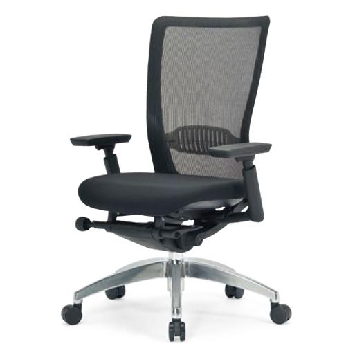 【最大1万円クーポン5/20限定】エルゴノミクスチェア ミドルバック 可動肘付 キャスター付 布張り メッシュチェア オフィスチェア エグゼクティブチェア 事務用椅子 R-5735 送料無料 ルキット オフィス家具 インテリア