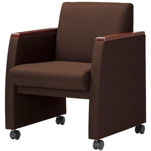 アームチェア ロッキング 高級 ミーティングチェア 会議椅子 キャスター付き 布張り ビニールレザー張り ブラック ブラウン RE-5881