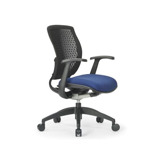 メッシュチェア ローバック 肘付 キャスター付 メッシュ布張り 回転イス オフィスチェア 事務用椅子 MA-1515 送料無料 ルキット オフィス家具 インテリア