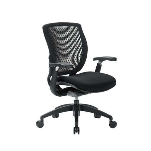 オフィスチェア ワークチェア ローバック メッシュチェア 肘置き付き 事務椅子 SOHO リクライニング キャスター付き オフィス家具 MA-1515AJ 送料無料