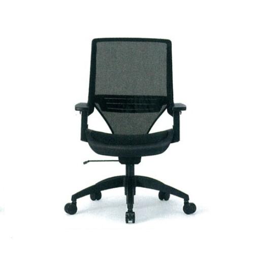 オフィスチェア メッシュチェア ミドルバックチェア ワークチェア ビジネスチェア ロッキング キャスター 高機能チェア メッシュ素材 ランバーサポート MS-1335