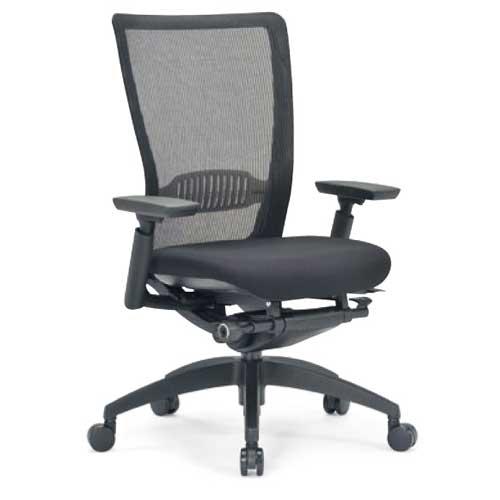 ★送料無料★ エルゴノミクスチェア ミドルバック 可動肘付 キャスター付 布張り メッシュチェア オフィスチェア エグゼクティブチェア 事務用椅子 R-5715 LOOKIT オフィス家具 インテリア