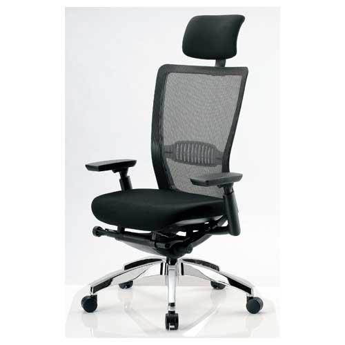 【最大1万円クーポン5/20限定】エルゴノミクスチェア ハイバック ヘッドレスト 可動肘付 キャスター付 布張り メッシュチェア エグゼクティブチェア 事務用椅子 R-5775 送料無料
