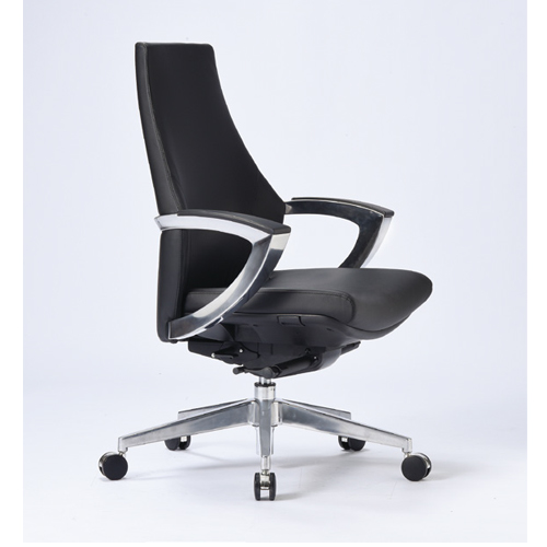 オフィスチェア 肘付き 送料無料 ローバックタイプ ビニールレザー張り ミーティングチェア デスクチェア 高級 会議室 役員室 R-5805