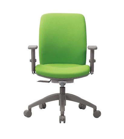 チェア ミドルバック 可動肘付 キャスター付 布張り ビニールレザー張り 11色展開 回転イス オフィスチェア 事務用椅子 OA-2135AJ 送料無料