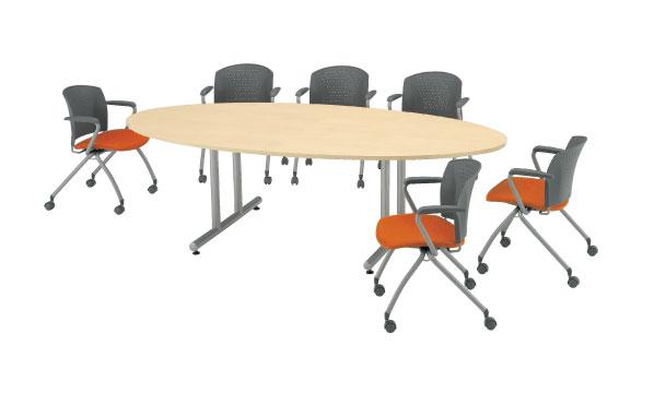 会議テーブル ミーティング 打ち合わせ用 DWS-2412E LOOKIT オフィス家具 インテリア