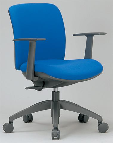 チェア ローバック 肘付 キャスター付 布張り ビニールレザー張り 11色展開 回転イス オフィスチェア 事務用椅子 OA-2115 送料無料 LOOKIT オフィス家具 インテリア