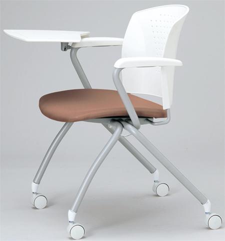 【法人限定】★送料無料★ スタッキングチェア いす 椅子 イス 肘付き メモ台 MC-334TWG LOOKIT オフィス家具 インテリア