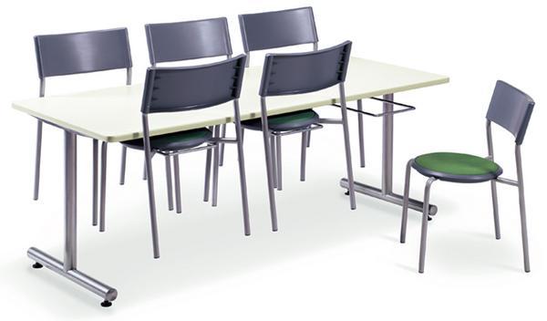 食堂テーブル 6人用 ダイニングテーブル 会議用テーブル ミーティングテーブル 角型 幅1800mm オフィス SOHO 用 DYT-1875 ルキット オフィス家具 インテリア
