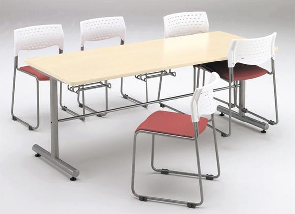 ★送料無料★ ダイニングテーブル イス掛け式 W1200mm 机 GYT-1275 LOOKIT オフィス家具 インテリア