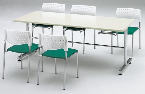 ★送料無料★ダイニングテーブル 椅子掛けテーブル つくえ GYM-1275 LOOKIT オフィス家具 インテリア