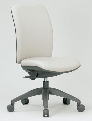 チェア ミドルバック キャスター付 布張り ビニールレザー張り 11色展開 回転イス オフィスチェア 事務用椅子 OA-2125 送料無料 ルキット オフィス家具 インテリア