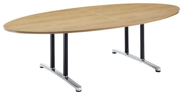 【最大1万円クーポン5/16 2時まで】会議テーブル WAL-2412E 机 デスク タマゴ型 幅240 ルキット オフィス家具 インテリア