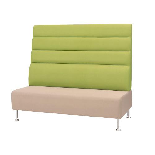 ロビーチェア ラウンジチェア 待合椅子 ビニールレザー ハイバックソファ アームレス エントランス カフェ オフィス家具 SCB-150HV LOOKIT オフィス家具 インテリア