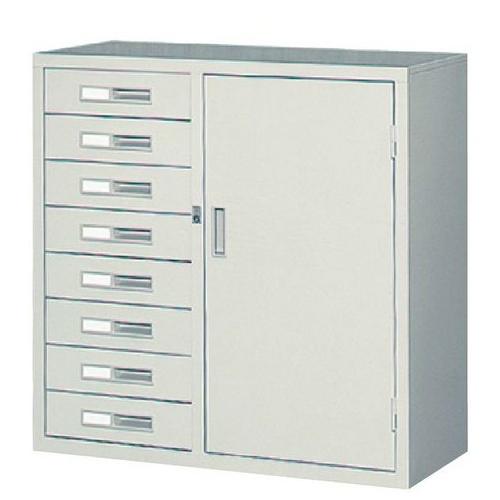 コンビ書庫 1列8段 整理ケース キャビネット 33C-8N ルキット オフィス家具 インテリア