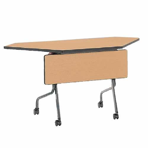 フォールディングテーブル SR-1245CP 幕板付き 机 ルキット オフィス家具 インテリア
