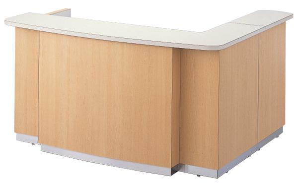 インフォメーションカウンター CIG-180L L型 有人用 W1800mm 大型 案内所 デパート 大型施設等でのご利用に最適!