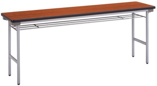 折りたたみ会議テーブル TM-1860T 棚あり つくえ LOOKIT オフィス家具 インテリア