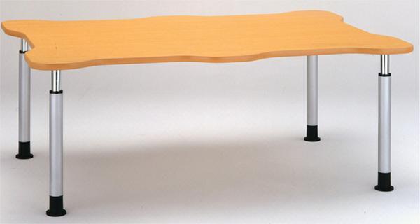 昇降テーブル KT-1812HN 花型 介護施設用 つくえ LOOKIT オフィス家具 インテリア